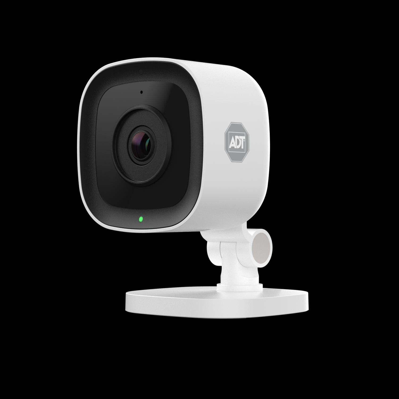La cámara IP wifi de la alarma ADT graba en HD y almacena las imágenes en la nube..